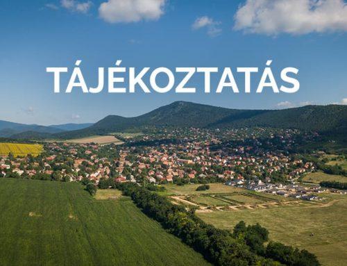 Pilisborosjenő közigazgatási területén működő valamennyi vendéglátói egység számára