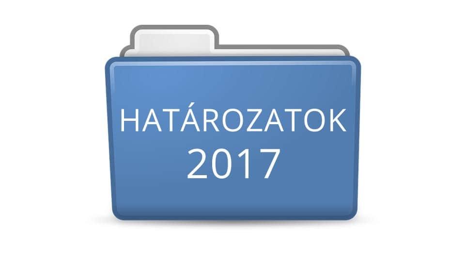 Határozatok 2017
