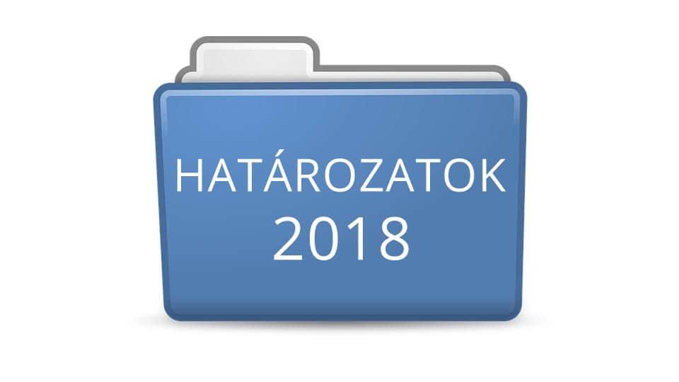 Határozatok 2018