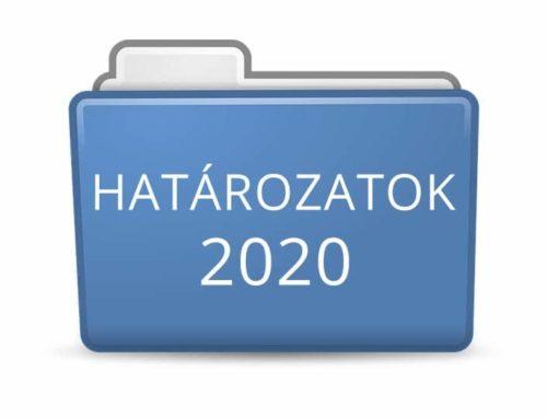 2020. évi határozatok