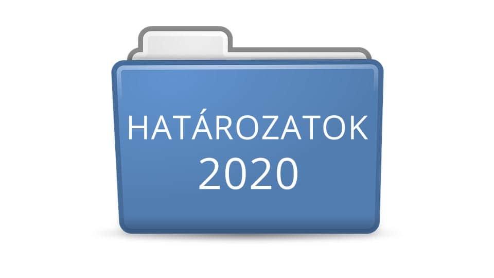 Határozatok 2020