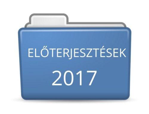 2017. évi előterjesztések
