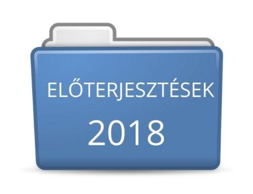 2018. évi előterjesztések