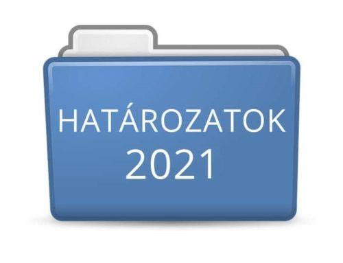 2021. évi határozatok