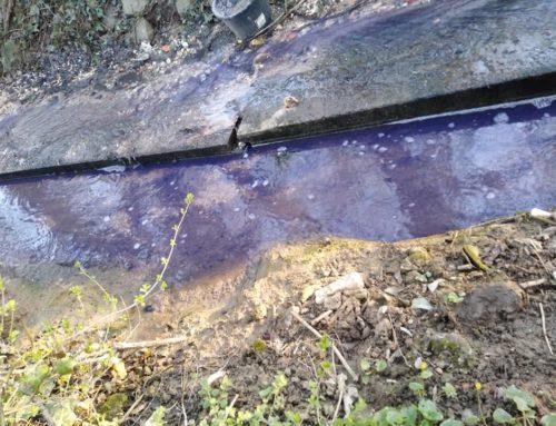Feljelentést teszünk a lila patakvíz miatt