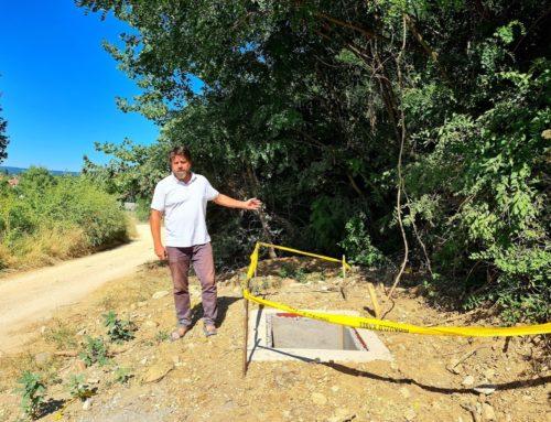 Hírközlő kábel fektetése miatt bózotot kell kivágni Lazerethen a leendő út és járda helyszínén