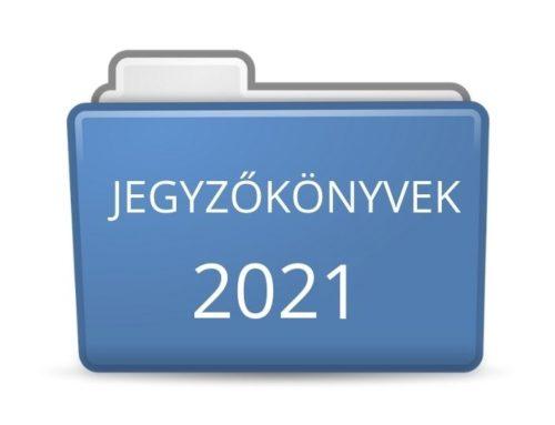 2021. évi jegyzőkönyvek